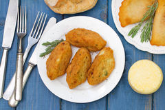 Fish croquettes stock photography