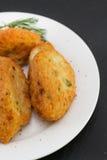 Fish croquettes stock image