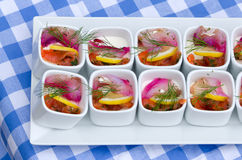 Fish cups Stock Photography