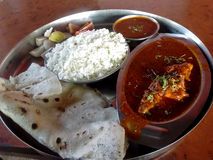 Fish curry lunch Stock Images