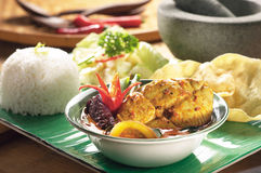 Fish curry set meal Royalty Free Stock Photography