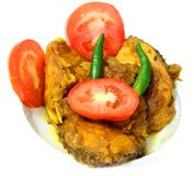 Fish curry with tomato & Chillis Royalty Free Stock Photography