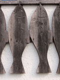 Fish cut from wood. Stock Photo