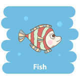 Fish. Cute cartoon fish vector illustration.Cartoon animal fish  isolated on background.Sea fish,baby fish,sea animal.Vector fish marine animal.Cute fish vector Stock Images