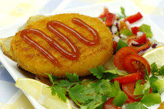 Fish cutlet Stock Photography