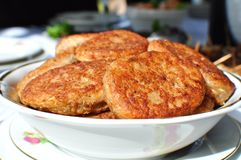 Fish cutlets Royalty Free Stock Images