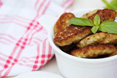 Fish cutlets countrylike, close-up Stock Photo