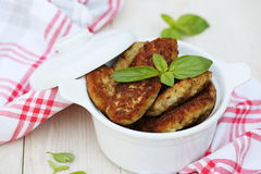 Fish cutlets countrylike Stock Image