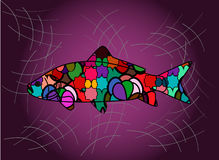 Fish. Decorative illustration of a fish Royalty Free Stock Images