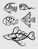 Fish Decorative Symbols 1 Stock Image