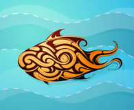 Fish decorative tattoo shape Stock Photo