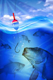 Fish in deep blue water Royalty Free Stock Photo