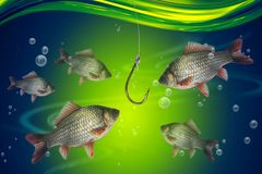 Fish in deep blue water Stock Photography