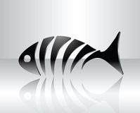 Fish design. Stylized fish skeleton with reflection Stock Photo