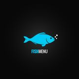 Fish design background. Fish seafood concept design background 8 eps Royalty Free Stock Photo