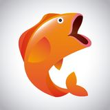 Fish design. Fish grafic design , vector illustration Royalty Free Stock Photos