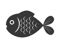 Fish design over  background. Sea life icon, vector grap. Sea life represented by cartoon fish over  and flat illustration Stock Photography