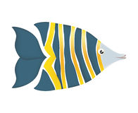 Fish design over  background. Sea life icon, vector grap. Sea life represented by cartoon fish over  and flat illustration Royalty Free Stock Photos