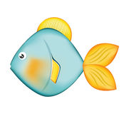 Fish design over  background. Sea life icon, vector grap. Sea life represented by cartoon fish over  and flat illustration Stock Images