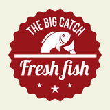 Fish design. Over beige background, vector illustration Royalty Free Stock Photos