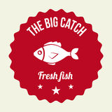Fish design. Over beige background, vector illustration Stock Photos