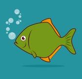 Fish design. Over blue background, vector illustration Royalty Free Stock Image