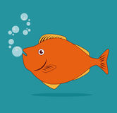Fish design. Over blue background, vector illustration Royalty Free Stock Photos