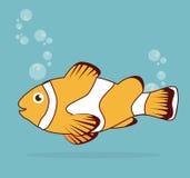 Fish design. Over blue background, vector illustration Stock Image