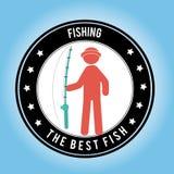 Fish design. Over blue background, vector illustration Stock Photo
