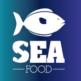 Fish design. Over blue background,vector illustration Royalty Free Stock Photography