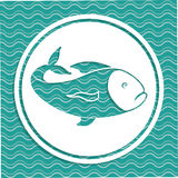 Fish design. Over blue background,vector illustration Stock Images