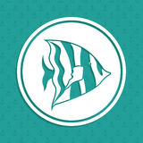 Fish design. Over blue background,vector illustration Royalty Free Stock Images