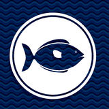 Fish design. Over blue background,vector illustration Stock Photography