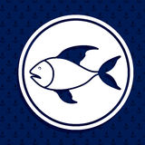 Fish design. Over blue background,vector illustration Royalty Free Stock Image