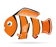 Fish design. Fish design over white background,  illustration Stock Photography