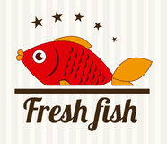Fish design. Over white background, vector illustration Royalty Free Stock Photo