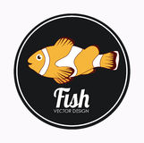 Fish design. Over white background, vector illustration Royalty Free Stock Images