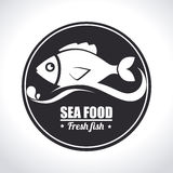 Fish design. Over white background, vector illustration Stock Images