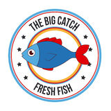 Fish design. Over white background, vector illustration Royalty Free Stock Photos