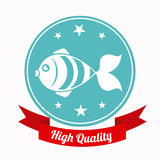 Fish design. Over white background, vector illustration Stock Image