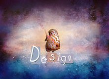 Fish design. Stylish image of fish on abstract background Royalty Free Stock Photography