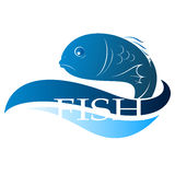 Fish design. Fish for design vector silhouette Royalty Free Stock Photos