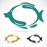 Fish. The design of the fish on white background Stock Photos