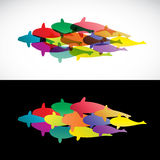 Fish design on white background and black background  - Vector I Royalty Free Stock Image