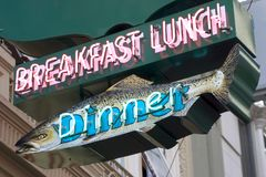 Fish Diner Sign Royalty Free Stock Images