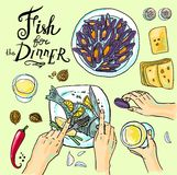 Fish for dinner Royalty Free Stock Photography