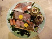 Fish for dinner in Japan Royalty Free Stock Photography