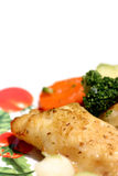 Fish dish. Delicious fish dish stock photography