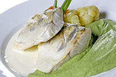 Fish dish Stock Images