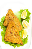 Fish dish. Fried fish fillet Stock Images